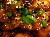 Recette crevettes gambas) miel, beurre, oignons verts, orange