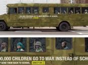 scolaire enfants soldats utiliser visuel pour conscientiser réalité