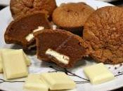 moelleux chocolat noir avec coeur coulant blanc