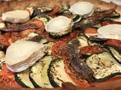 Tarte salée courgettes tomates anchois chèvre
