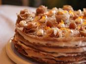 Gâteau crêpes orange-crème marrons