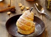 Douillons poires crème noisettes, anglaise ChaÏ
