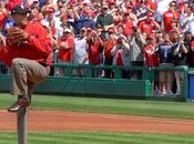 Donnez coup d'envoi fictif d'un match baseball, tradition présidentielle