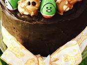 Cake ultra chocolaté appelé Gâteaux boue l'île Maurice l'occasion Pâques