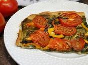 tarte tomates épinards (coca espagnole)