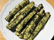 Frites courgettes rôties herbes