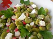 Salade fèves noisettes chèvre