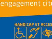 ville Poitiers diffuse guide handicap accessibilité, intitulé Partager ville, engagement citoyen