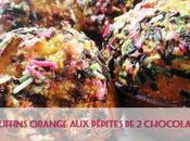 Muffins orange pépites chocolats