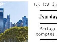 #sundayIGshare hashtag d'un dimanche inspirant