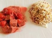 Tofu cerises Griottes (Vegan)
