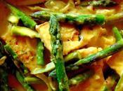 Tofu sauce crémeuse asperges
