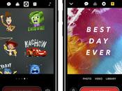 Clips iPhone intègre nouvelles incrustations affiches Disney Pixar
