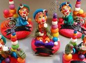 Porte-photos avec clown porcelaine froide