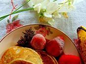 Pancakes bananes crème anglaise