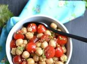 Salade pois chiches coriandre tomates cerises