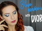 Blue make-up with Dior