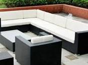 Jardin mobilier table ronde jardin