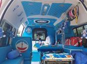 Thaïlande taxi Hello Kitty ambulance Doraemon (vidéos)