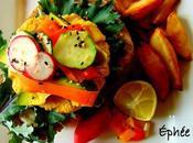 Hamburger open face d'inspiration vietnamienne