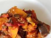 Fondue d'aubergine, tomate potimarron