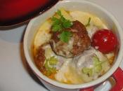 Boulettes viande gratiné yaourt