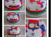 Tuto gâteau Olympique Lyonnais (gâteau vanille ganache chocolat) thermomix sans