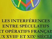 Parution interférences entre spéculatifs opératifs français XVIIIe XIXe siècles
