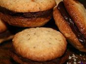 Biscuit noisette fourré ganache chocolat