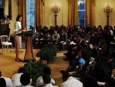 Michelle Obama reçoit élèves Maison blanche pour Black History Month