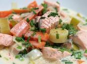 Blanquette saumon agrumes ciboulette