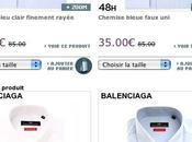 modèles chemises Balenciaga -60%