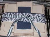Table bleu-beige