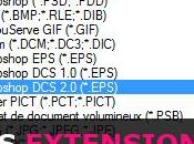 différents types d'extensions fichiers Photoshop
