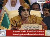 Doha Sommet ligue arabe: Kadhafi claque porte