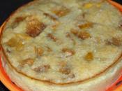 Clafoutis nectarines, rhum noix coco