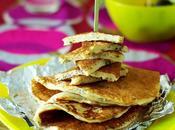 Pancakes salés parmesan, tomates séchées origan