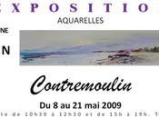 L'aquarelliste Jean-François Contremoulin expose 2009 Cucuron Brioude