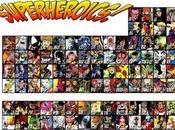 table pèriodique super-héros