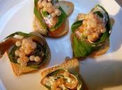 Saumon l'oseille revisité Roulades crème acidulée caviar d'escargots