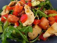 Poulet grillé légumes croquants