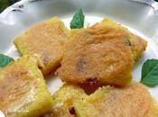 Carrés polenta basilic, jambon Parme parmesan