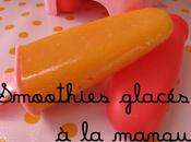 Smoothies glacés mangue