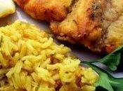 Murène frite safran