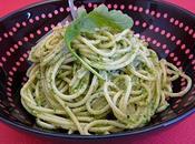 Spaghettis pesto roquette noix