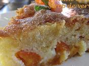 Gâteau mouillé abricots, huile d'olive sirop verveine