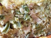 Pudding salé, haricots verts frais saumon...