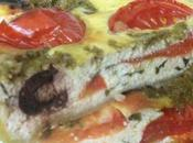 Quiche basilic, tomates, pesto