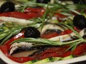 Tian provençal anchois, olives romarin