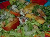 Salade nectarine, bleu noix